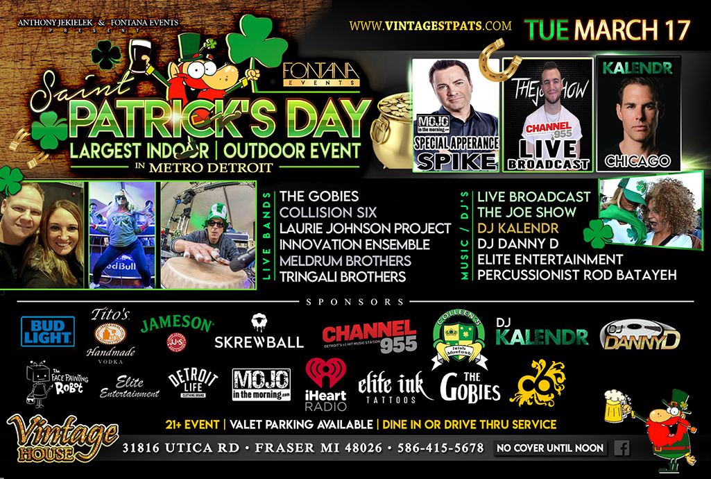 St. Patrick's Day Party Metro Detroit 3.17.2020