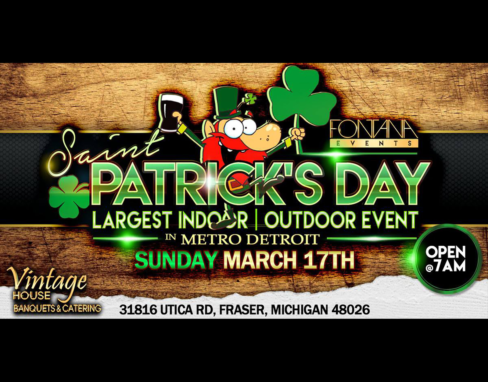 St. Patrick's Day Party Metro Detroit 3.17.2019